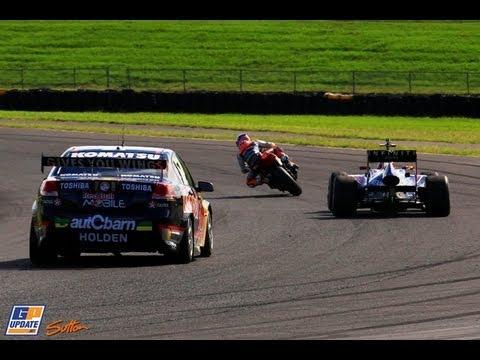 Webber (F1) Stoner (MotoGP) Whincup (V8) Top Gear Festival Sydney
