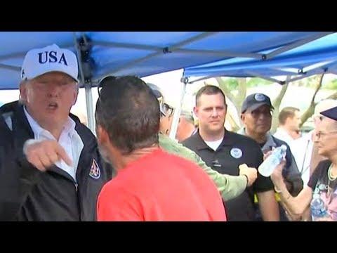 """Obama Was Playing Golf During The Last Hurricane"" Irma Survivor Tells Trump"