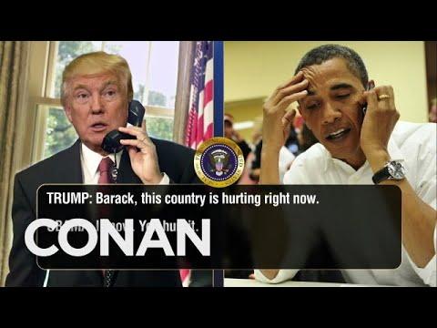 Trump Calls Obama To Talk About Charlottesville & Twitter  – CONAN on TBS
