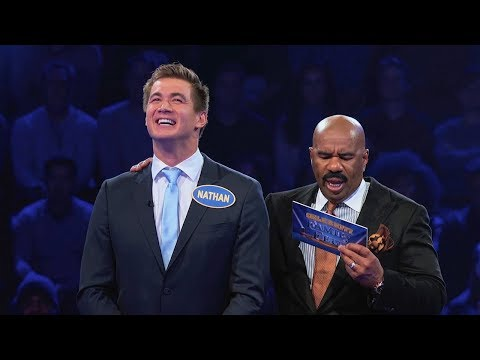 USA Swimmers go for GOLD!   Celebrity Family Feud