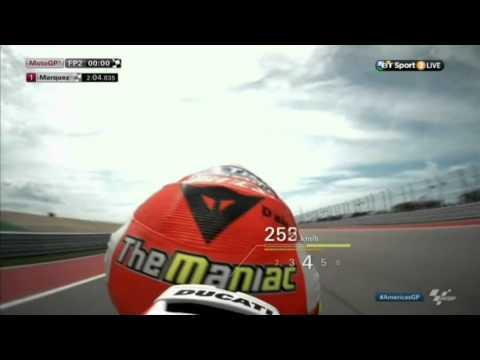 Ducati 0-320 km/h in 11 sec Austin COTA